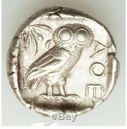 Ancient Greece 440-404BC Attica Athens AR tetradrachm AU LINE RIGHT COLOR BRITE