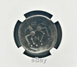 Ancient Greece NGC VF Danubian Celts Silver Tetradrachm Sattelkopfpferd 100 B. C