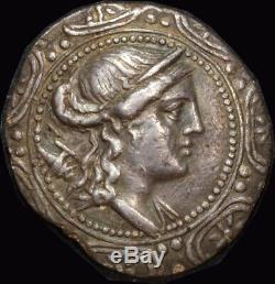 Ancient Greece (Thrace / Amphipolis) 158149 BC Silver Tetradrachm S# 1386 good