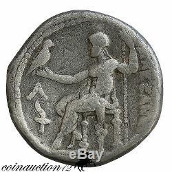 Ancient Greek Alexander The Great Silver Tetradrachm Amphipolis Mint