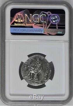 Ancient Greek Seleucid Kingdom Antiochus IV 175-164 BC AR Tetradrachm NGC CH XF