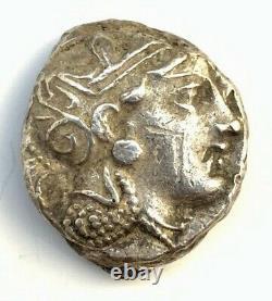 Ancient Greek Silver Coin Of Attica, Tetradrachm, 454 415 B. C. Profile Eye
