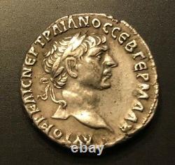 Ancient Roman Silver Tetradrachm Trajan Tyre 98-117 A. D