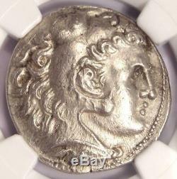Antigonus II Gonatas Alexander AR Tetradrachm Coin 277-239 BC Certified NGC AU