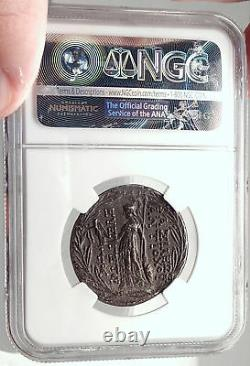 Antiochos VII Seleukid Silver Greek Cappadocian Tetradrachm Coin NGC AU i70336