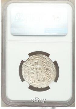 Antiochus VII Ancient Greek Seleukids AR tetradrachm 138-29BC NGC Ch XF