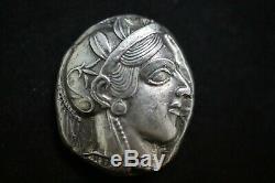 Athena Attica Tetradrachm (Ancient Owl Coin)