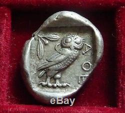 Athens, Athena Owl Silver tetradrachm 454-404 BC. Athena & Owl incuse SNG Cop 31