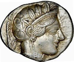 Athens Athena Owl Tetradrachm ca. 465-454 BC Ancient Greek Attica NGC AU 5/5 4/5