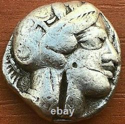 Athens, Attica 420 BC AR Tetradrachm Athena & Owl Ancient Greek Silver Coin
