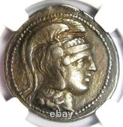 Athens Greece Athena Owl Tetradrachm Coin (124 BC, New Style) NGC VF, 5 Strike