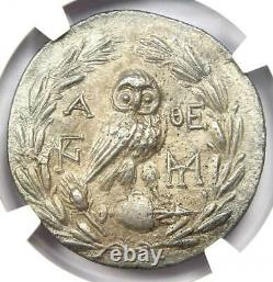 Athens Greece Athena Owl Tetradrachm Coin (155 BC, New Style) NGC Choice AU