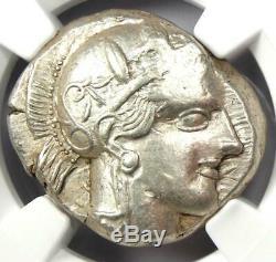 Athens Greece Athena Owl Tetradrachm Coin (440-404 BC) Certified NGC AU