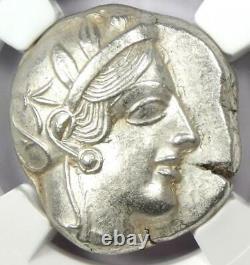 Athens Greece Athena Owl Tetradrachm Coin 440-404 BC. NGC Choice AU 5/5 Strike