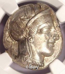 Athens Greece Athena Owl Tetradrachm Coin (440-404 BC) NGC Choice AU, Test Cut