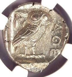 =Athens Greece Athena Owl Tetradrachm Coin (440-404 BC) NGC Choice AU, Test Cut