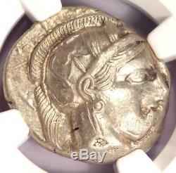 Athens Greece Athena Owl Tetradrachm Coin (440-404 BC) NGC Choice XF, Test Cut