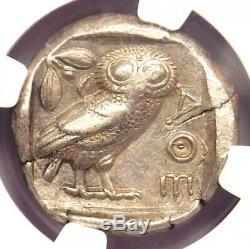 Athens Greece Athena Owl Tetradrachm Coin (440-404 BC) NGC XF, Test Cut