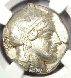Athens Greece Athena Owl Tetradrachm Coin 440-404 BC NGC XF, Test Cut