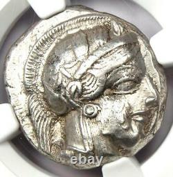 Athens Greece Athena Owl Tetradrachm Coin (440-404 BC) NGC XF with Full Crest