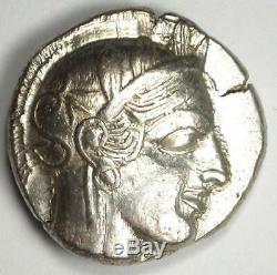 Athens Greece Athena Owl Tetradrachm Coin (454-404 BC) Choice AU Condition