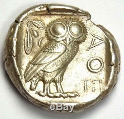 Athens Greece Athena Owl Tetradrachm Coin (454-404 BC) Choice XF / AU Rare
