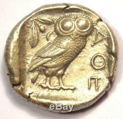 Athens Greece Athena Owl Tetradrachm Coin (454-404 BC) Choice XF Condition