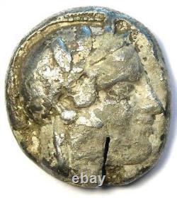 Athens Greece Athena Owl Tetradrachm Coin (454-404 BC) Fine / VF, Test Cut