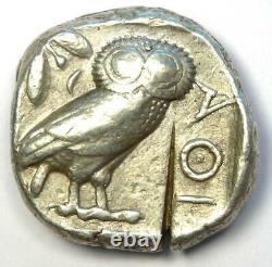 Athens Greece Athena Owl Tetradrachm Coin (454-404 BC) Good VF / XF, Test Cut