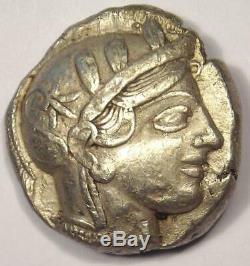 Athens Greece Athena Owl Tetradrachm Coin (454-404 BC) XF with Test Mark