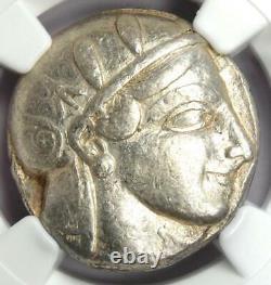 Athens Greece Athena Owl Tetradrachm Coin (455-440 BC) Certified NGC Choice VF
