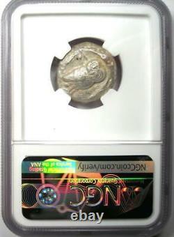 Athens Greece Athena Owl Tetradrachm Coin (510-480 BC) NGC VF Early Issue