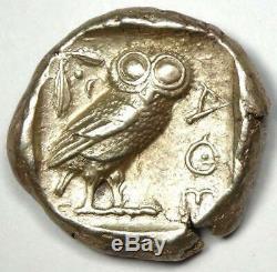 Athens Greece Athena Owl Tetradrachm Silver Coin (454-404 BC) AU Condition