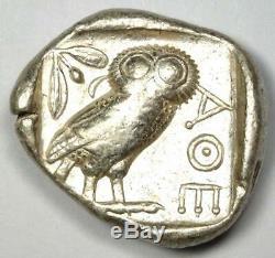 Athens Greece Athena Owl Tetradrachm Silver Coin (454-404 BC) Choice VF / XF