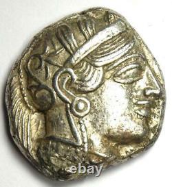 Athens Greece Athena Owl Tetradrachm Silver Coin (454-404 BC) Choice XF