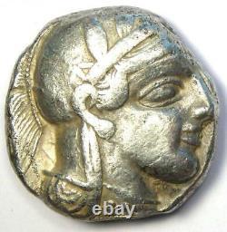 Athens Greece Athena Owl Tetradrachm Silver Coin (454-404 BC) Good VF