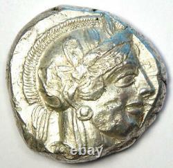 Athens Greece Athena Owl Tetradrachm Silver Coin (454-404 BC) Good VF / XF