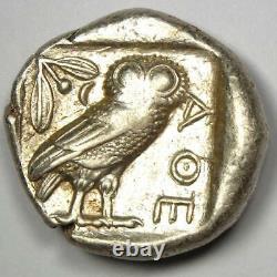 Athens Greece Athena Owl Tetradrachm Silver Coin (454-404 BC) Nice XF (EF)