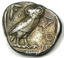 Athens Greece Athena Owl Tetradrachm Silver Coin (454-404 BC) VF