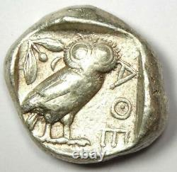 Athens Greece Athena Owl Tetradrachm Silver Coin (454-404 BC) VF Condition