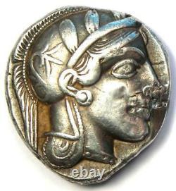 Athens Greece Athena Owl Tetradrachm Silver Coin (454-404 BC) VF (Repaired)