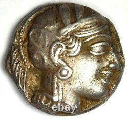 Athens Greece Athena Owl Tetradrachm Silver Coin (454-404 BC) VF / XF