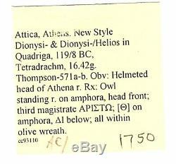 Attic, Athens New Style Ngc Xf 5/5 4/5 Ar Tetradrachm Superb A+ 130