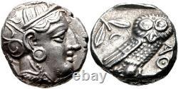 Attica Athens 393-294 BC AR Tetradrachm Athena/Owl SILVER Coin NGC AU 5/5 3/5
