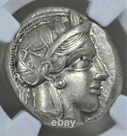 Attica, Athens AR Tetradrachm (440-404 BC) NGC AU (About Uncirculated) 4/4