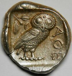Attica Athens AR tetradrachm circa 454-404 BC XF 17.23 grams