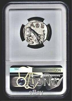 Attica Athens Greek Owl Silver AR Tetradrachm Coin (440-404 BC) NGC AU 4/5 4/5