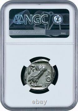 Attica Athens Greek Owl Silver Tetradrachm Coin (440-404 BC) NGC CH AU 5/5 5/5
