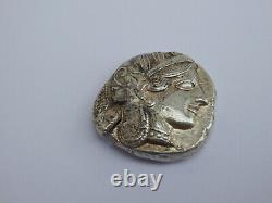 Attica Athens Tetradrachm Athena Owl Crescent Olive Silver Greek Tolle Erhaltung