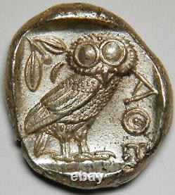 Attica Athens tetradrachm circa 454-404 BC gXF 17.24 grams